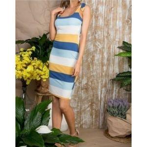 Stretchy stripe dress